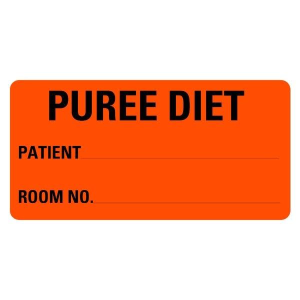 Puree Diet Food Service Medical Labels