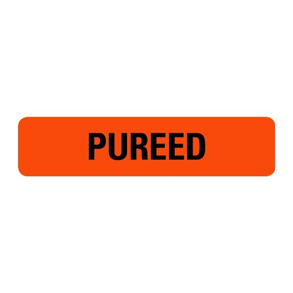 Pureed Food Service Medical Labels