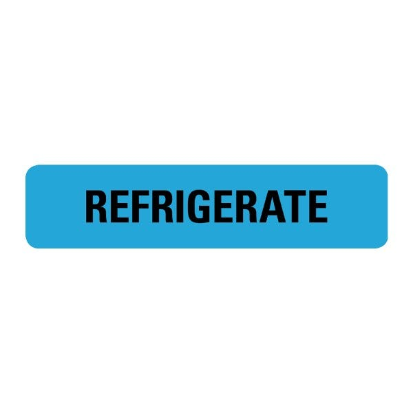 Refrigerate Food Service Medical Labels