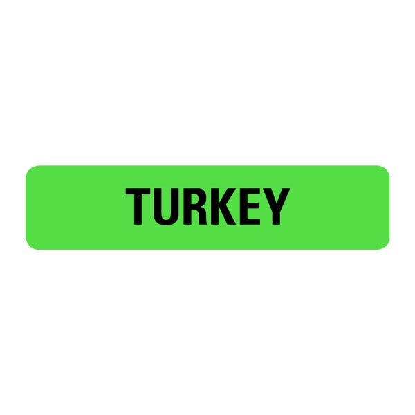 Turkey Food Service Medical Labels