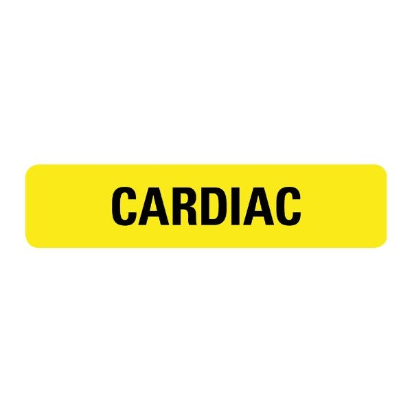 Cardiac Food Service Medical Labels