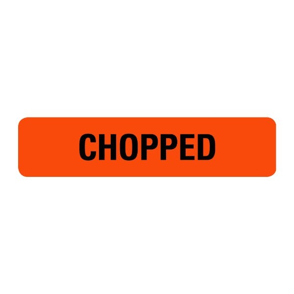 Chopped Food Service Medical Labels