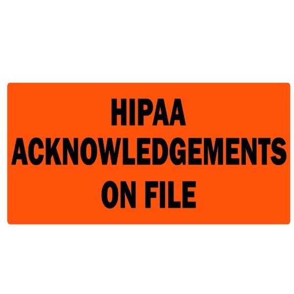 Hippa Acknowledgements on File Labels