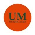 "University of Miami 1-1/2"" Labels"