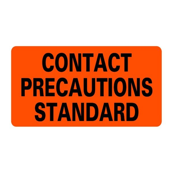 CONTACT PRECAUTIONS STANDARD Infection Control Medical Labels