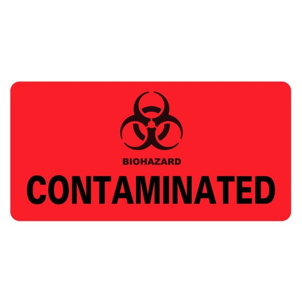 CONTAMINATED Infection Control Medical Labels