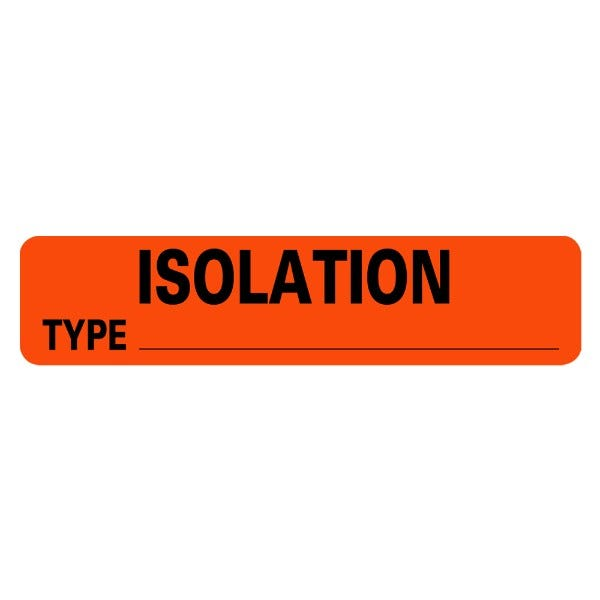 ISOLATION Type Infection Control Medical Labels