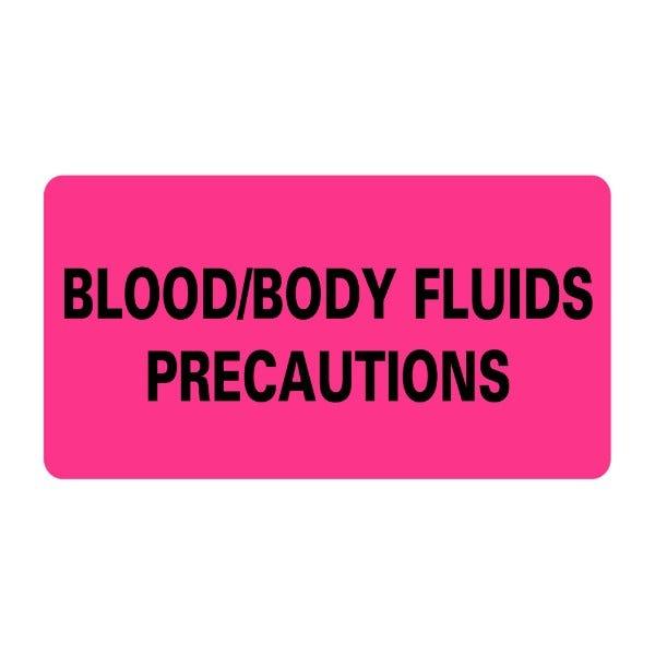 BLOOD BODY FLUIDS PRECAUTIONS Infection Control Medical Labels