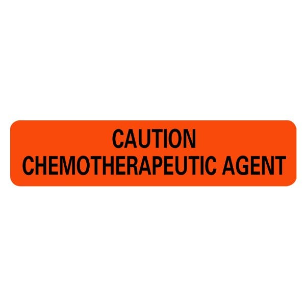 CAUTION CHEMOTHERAPEUTIC AGENT Infection Control Medical Labels