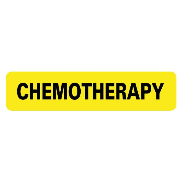 CHEMOTHERAPY Infection Control Medical Labels