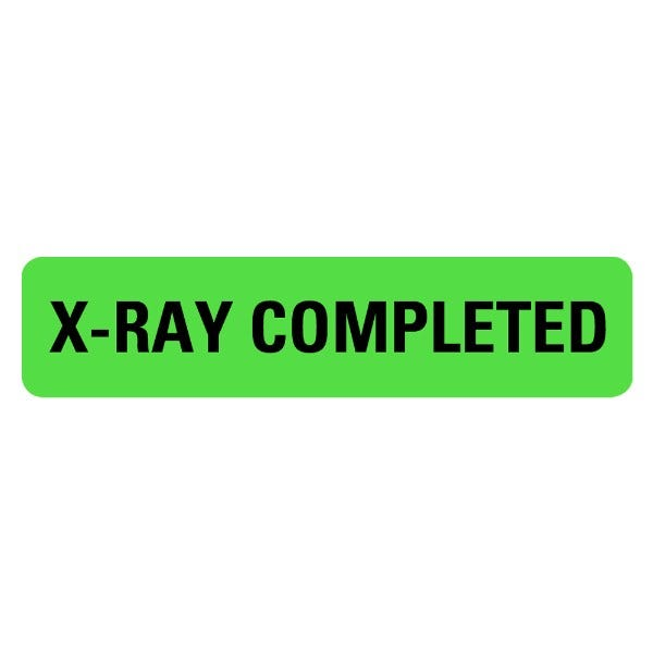 X-RAY COMPLETED Medical Labels