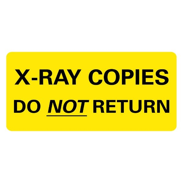 X-RAY COPIES Medical Labels