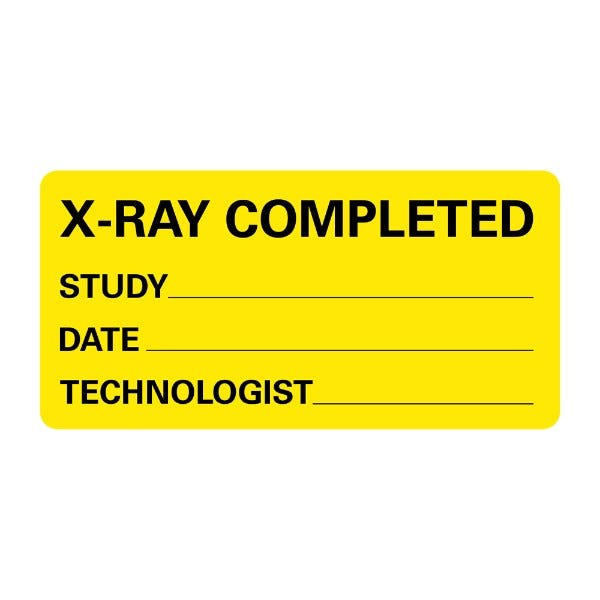 X-RAY COMPLETED STUDY DATE Medical Labels