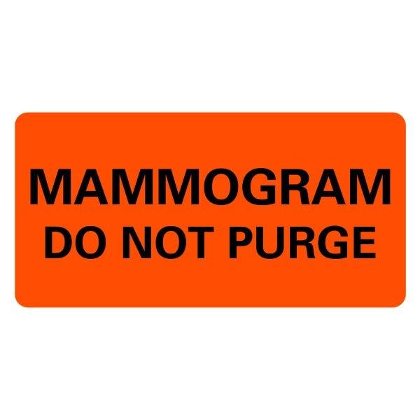 MAMMOGRAM Medical Labels