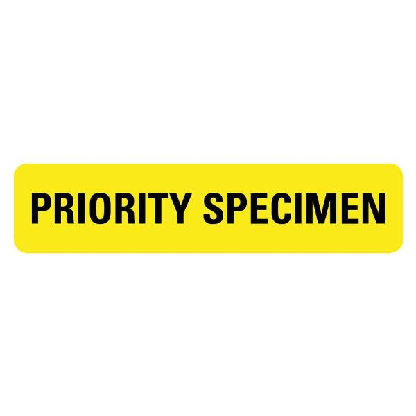 PRIORITY SPECIMEN Medical Labels