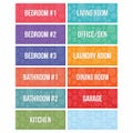 Moving Labels Pack, Multi-Room Color Coded