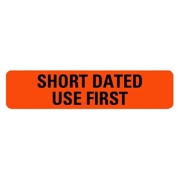 SHORT DATED USE FIRST Medical Labels