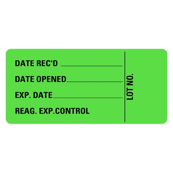 Date Rec'd Date Opening EXP Date Medical Labels