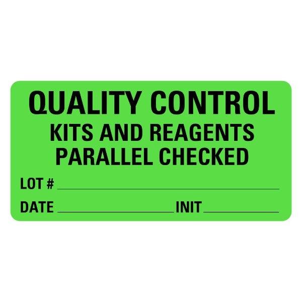 QUALITY CONTROL Medical Labels