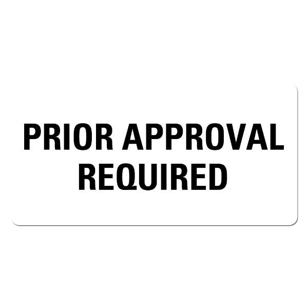 PRIOR APPROVAL REQUIRED Medical Records Labels