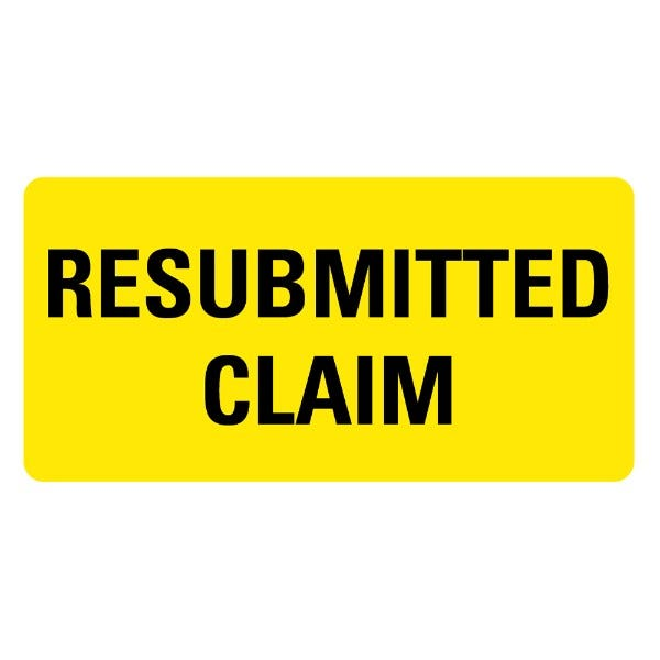 RESUBMITTED CLAIM Medical Records Labels
