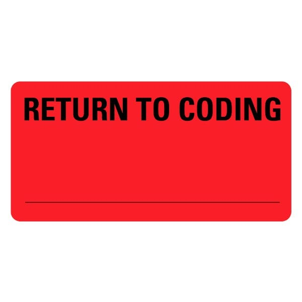 RETURN TO CODING Medical Records Labels