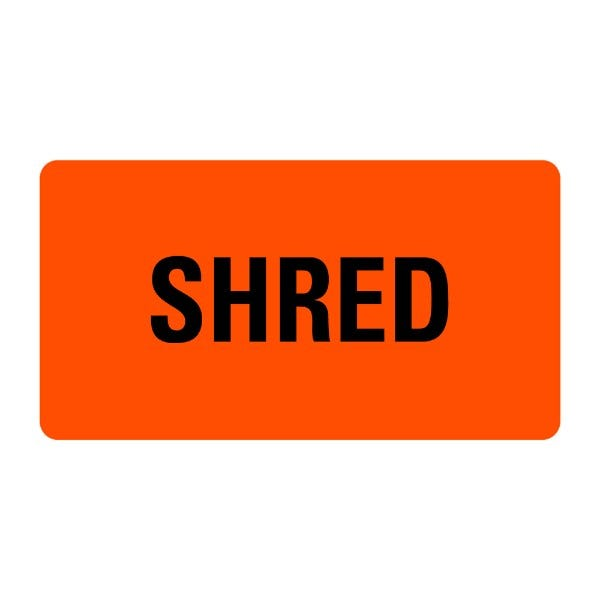 SHRED Medical Records Labels
