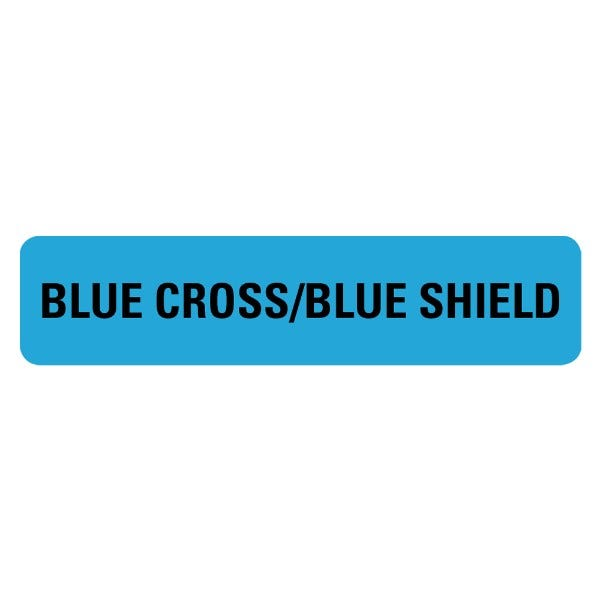 BLUE CROSS BLUE SHIELD Medical Labels