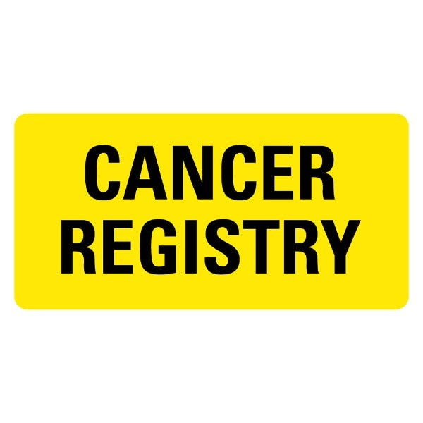 CANCER REGISTRY Medical Records Labels