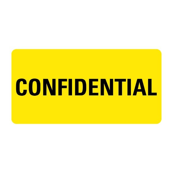 CONFIDENTIAL Medical Records Labels