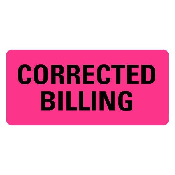 CORRECTED BILLING Medical Records Labels