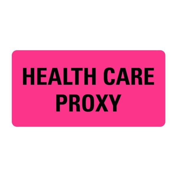HEALTH CARE PROXY Medical Records Labels