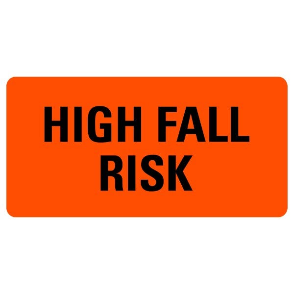 HIGH FALL RISK Medical Labels