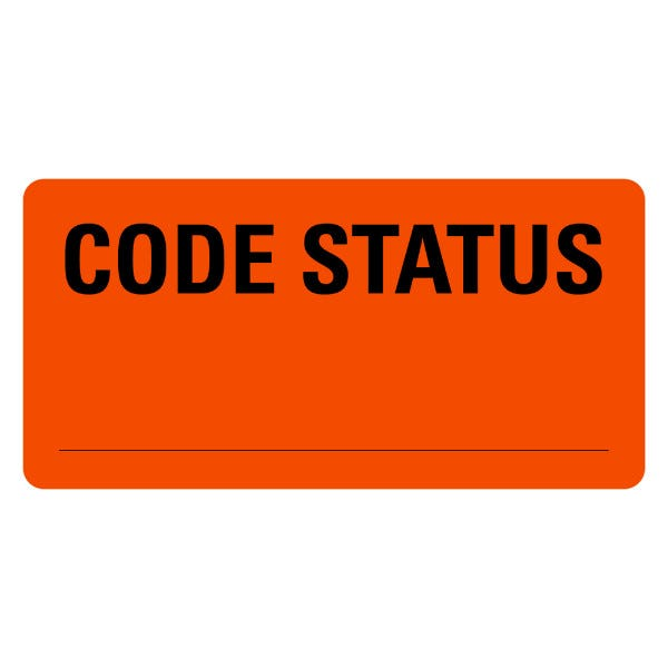CODE STATUS Medical Labels