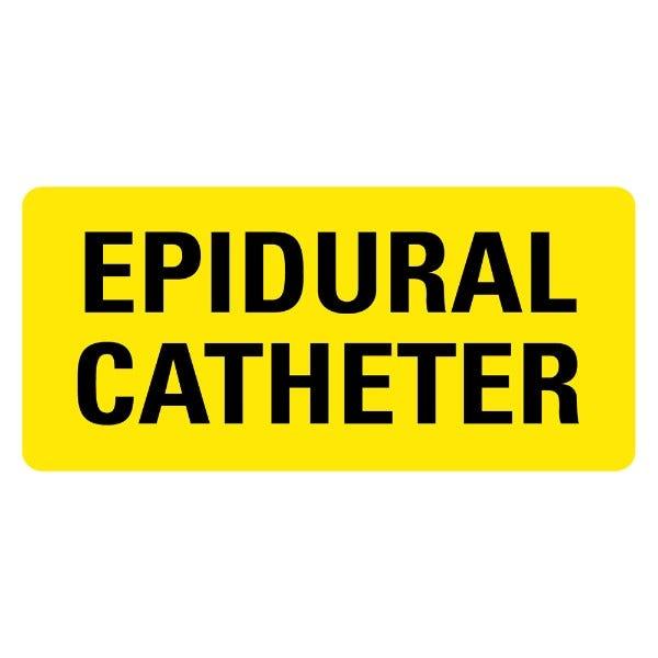 EPIDURAL CATHETER Medical Labels