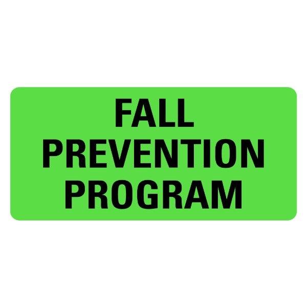 FALL PREVENTION PROGRAM Medical Labels