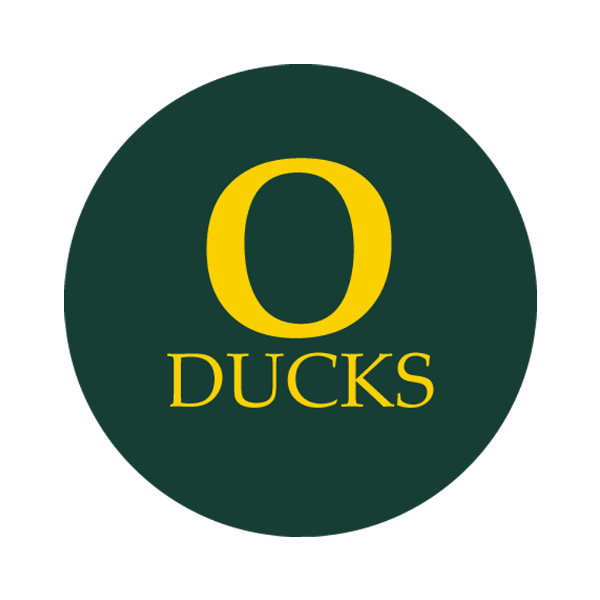 "University of Oregon 1-1/2"" Labels"