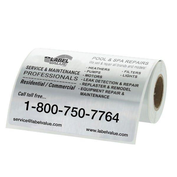 "Large Weatherproof Custom Service Labels | 4"" x 3"""