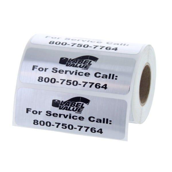 "Weatherproof Custom Service Labels | 3"" x 1"""