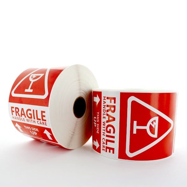 Large Fragile Stickers - Handle With Care