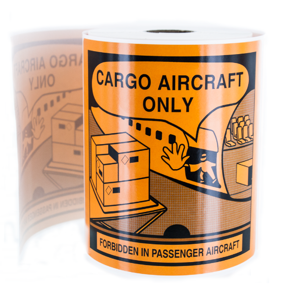 Cargo Aircraft Only Warning Labels for Lithium Battery Transport