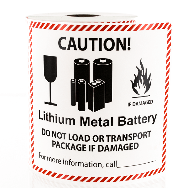 Lithium Metal Battery Handling Labels
