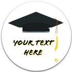 "Custom Graduation Labels | 1-1/2"" Circles"