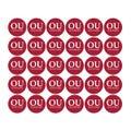 "University of Oklahoma 1-1/2"" Labels"
