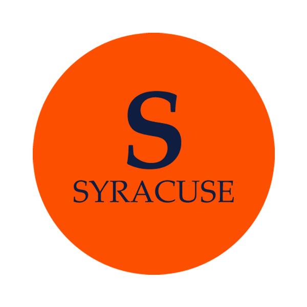 """Syracuse University 1-1/2"""" Labels"""