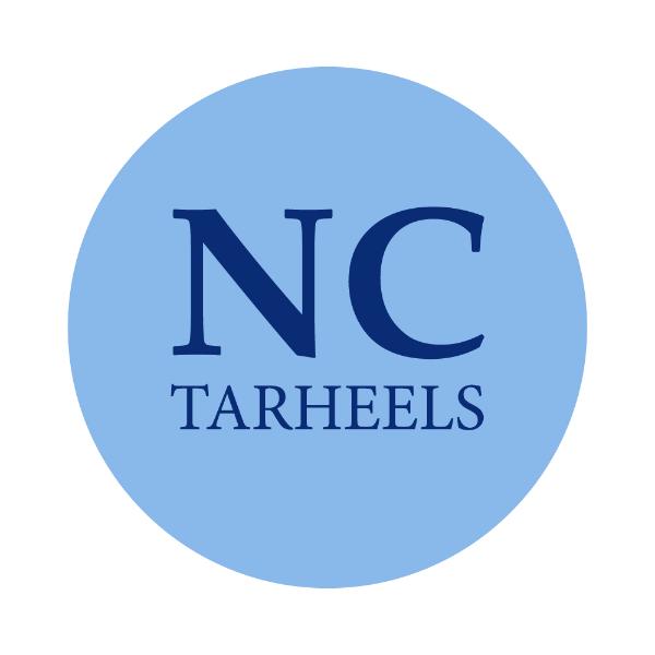 "University of North Carolina 1-1/2"" Labels"