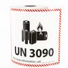 UN 3090 Lithium Battery Handling Labels