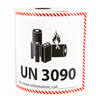 UN 3090 Lithium Battery Handling Labels