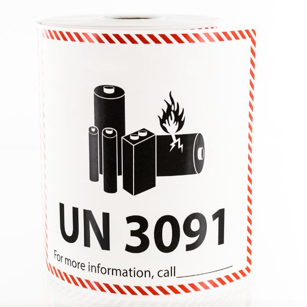 UN 3091 Lithium Battery Handling Labels