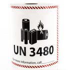 UN 3480 Lithium Battery Handling Labels